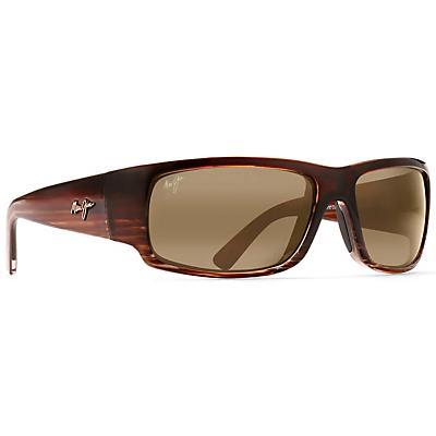 Maui Jim World Cup Polarized Sunglasses - Chocolate Stripe Fade / HCL Bronze