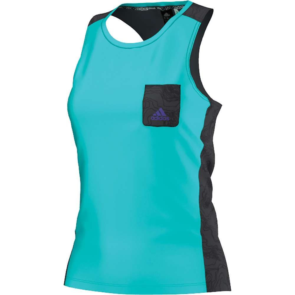 Adidas Women's EDO Highline Tank - Large - Vivid Mint