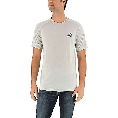 Adidas Men's Ultimate SS Tee Lgh Solid Grey / Black Adidas Men's Ultimate SS Tee - Lgh Solid Grey / Black - in stock now. FEATURES of the Adidas Women's Ultimate Short Sleeve Tight Climalite soft, lightweight fabric for superior moisture management Tight hip, tight through leg Comfortable stretch material Odor-resistant gusset, Secure waistband