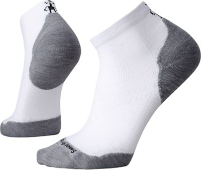 Smartwool PhD Run Light Elite Low Cut Sock - Medium - White / Light Grey