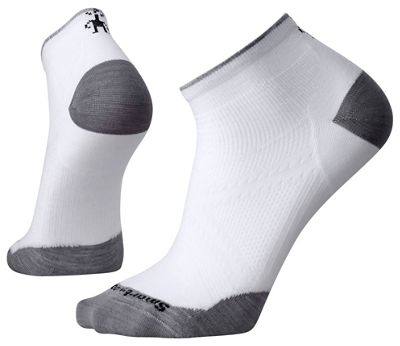 Smartwool PhD Run Ultra Light Low Cut Sock - XL - White / Light Grey