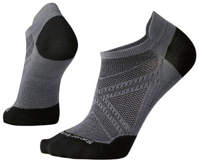 Smartwool PhD Run Ultra Light Micro Sock - XL - Graphite / Black