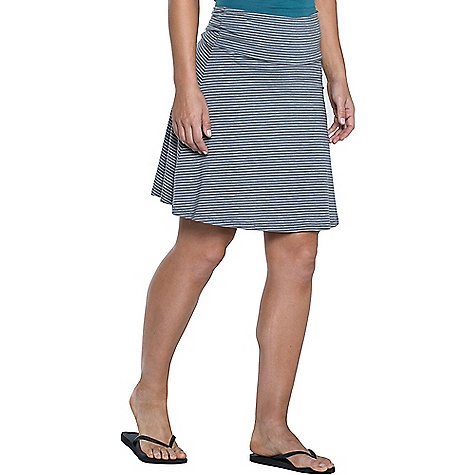 Toad & Co Women's Chaka Skirt Smoke Lean Stripe Toad & Co Women's Chaka Skirt - Smoke Lean Stripe - in stock now. FEATURES of the Toad & Co Women's Chaka Skirt Stash pocket inside waistband at wearer's right hip Toad & Co. is formerly Horny Toad, so you know it's legit.