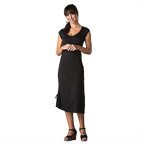 Toad & Co Women's Muse Dress Black Toad & Co Women's Muse Dress - Black - in stock now. FEATURES of the Toad & Co Women's Muse Dress Quarter-cap sleeve Patch side pocket Adjustable drawcord along right side Toad & Co. is formerly Horny Toad, so you know it's legit.