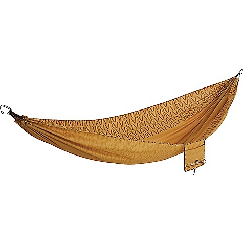 Therm-a-Rest Slacker Hammock Curry Therm-a-Rest Slacker Hammock - Curry - in stock now. FEATURES of the Therm-a-Rest Slacker Hammock 100% ripstop polyester adds comfort; dries faster than nylon One-piece design increases comfort and boosts durability 400 lb. capacity Stuffs into integrated pocket; sized to hold tablets and e-readers Ultralight aluminum carabiners for easy hanging Single Dimensions: 116 x 63 in. Double Dimensions: 116 x 74 in.