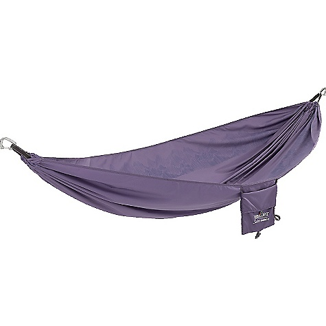 Therm-a-Rest Slacker Hammock Purple Sage Therm-a-Rest Slacker Hammock - Purple Sage - in stock now. FEATURES of the Therm-a-Rest Slacker Hammock 100% ripstop polyester adds comfort; dries faster than nylon One-piece design increases comfort and boosts durability 400 lb. capacity Stuffs into integrated pocket; sized to hold tablets and e-readers Ultralight aluminum carabiners for easy hanging Single Dimensions: 116 x 63 in. Double Dimensions: 116 x 74 in.