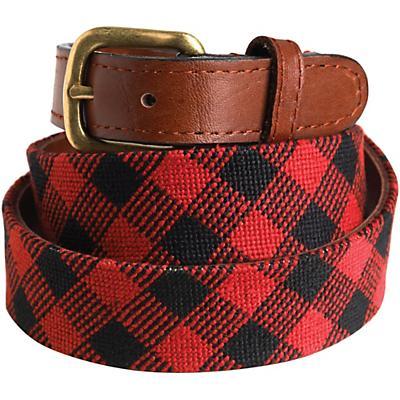Woolrich S&B Belt - Red / Black Plaid