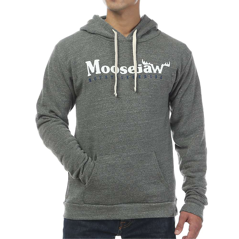 Moosejaw Men's Original Pullover Hoody - XL - Heather Grey / White / Navy