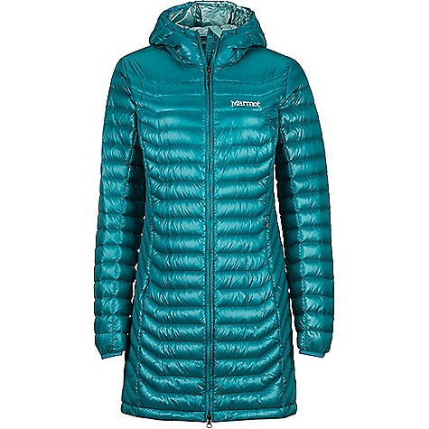 Marmot Women's Sonya Jacket Deep Lake Marmot Women's Sonya Jacket - Deep Lake - in stock now. FEATURES of the Marmot Women's Sonya Jacket 700 Fill power down with down defender Attached hood Zippered hand pockets Elastic bound cuffs