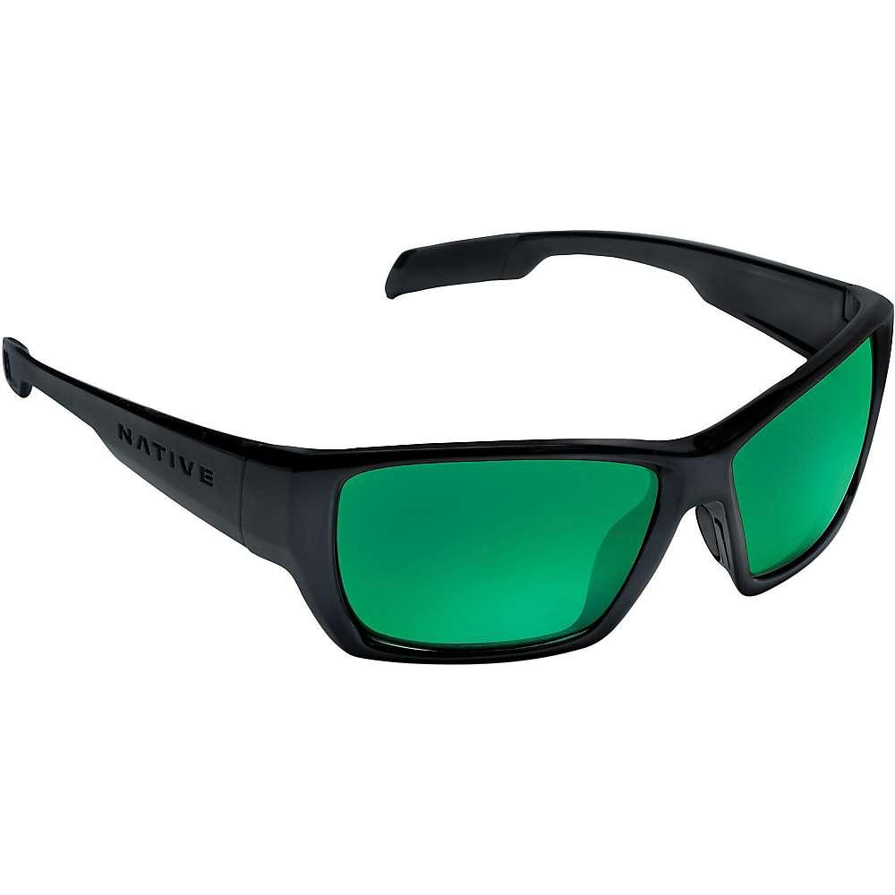 Native Ward Polarized Sunglasses - One Size - Matte Black / Green Reflex