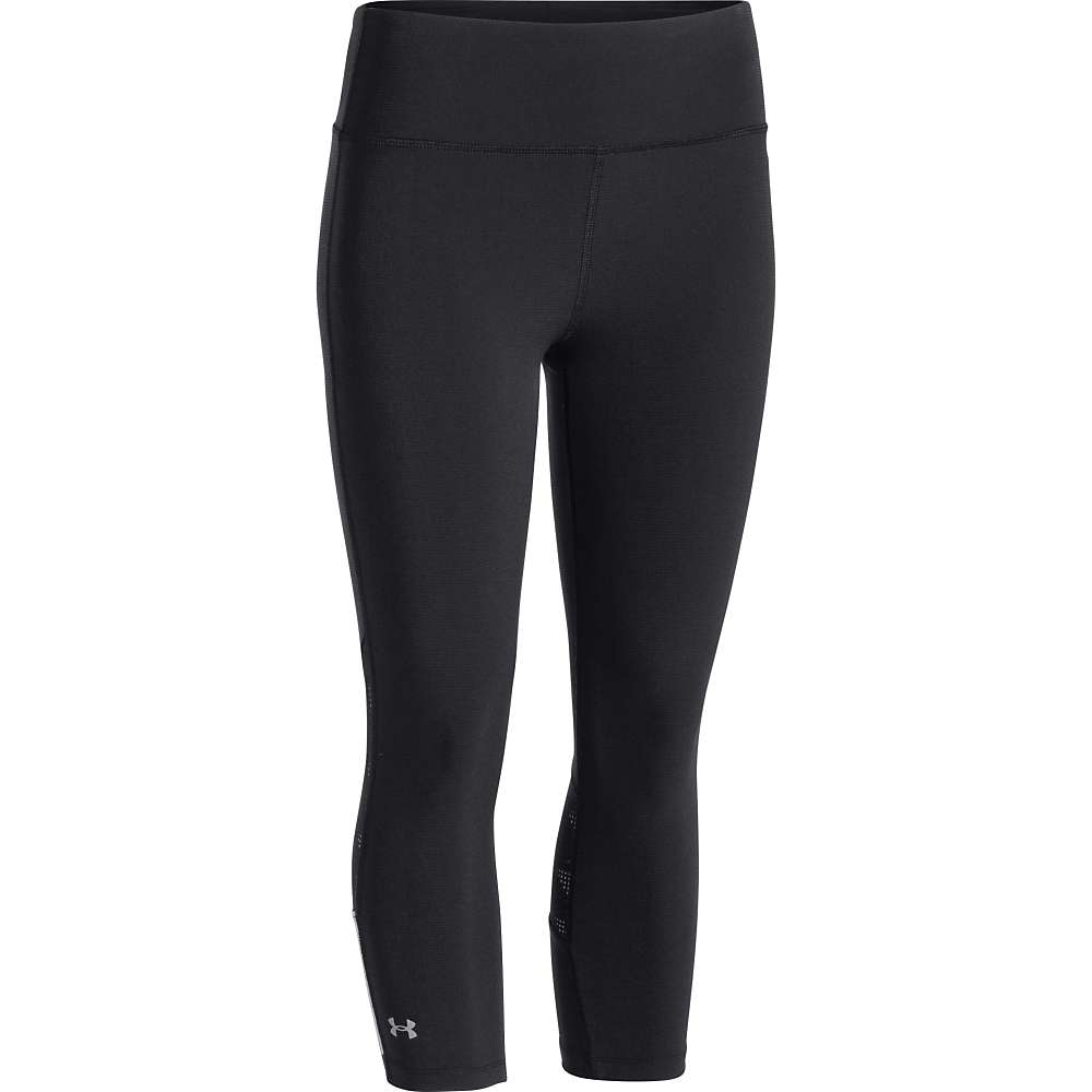 Under Armour Women's Armour Vent Stretch Woven Capri - Small - Black / Black / Reflective