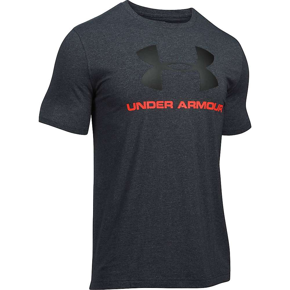 Under Armour Men's UA Charged Cotton Sportstyle Logo Tee - Large - Black / Black / Black