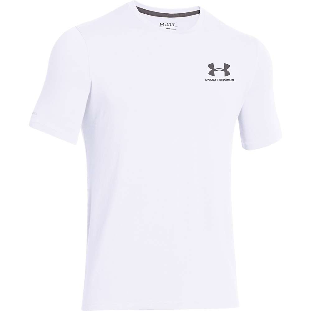 Under Armour Men's UA Charged Cotton Sportstyle Left Chest Lockup Tee - XL - White / Graphite