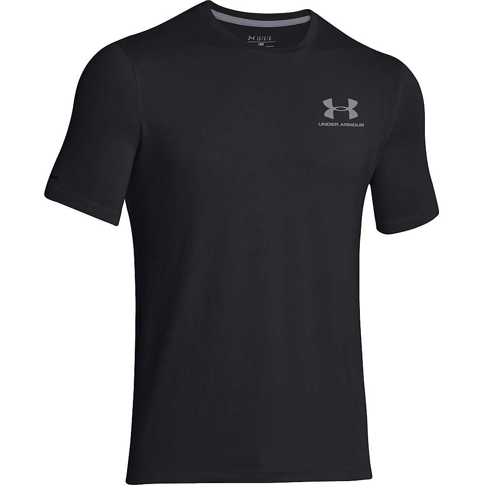 Under Armour Men's UA Charged Cotton Sportstyle Left Chest Lockup Tee - Medium - Black / Steel