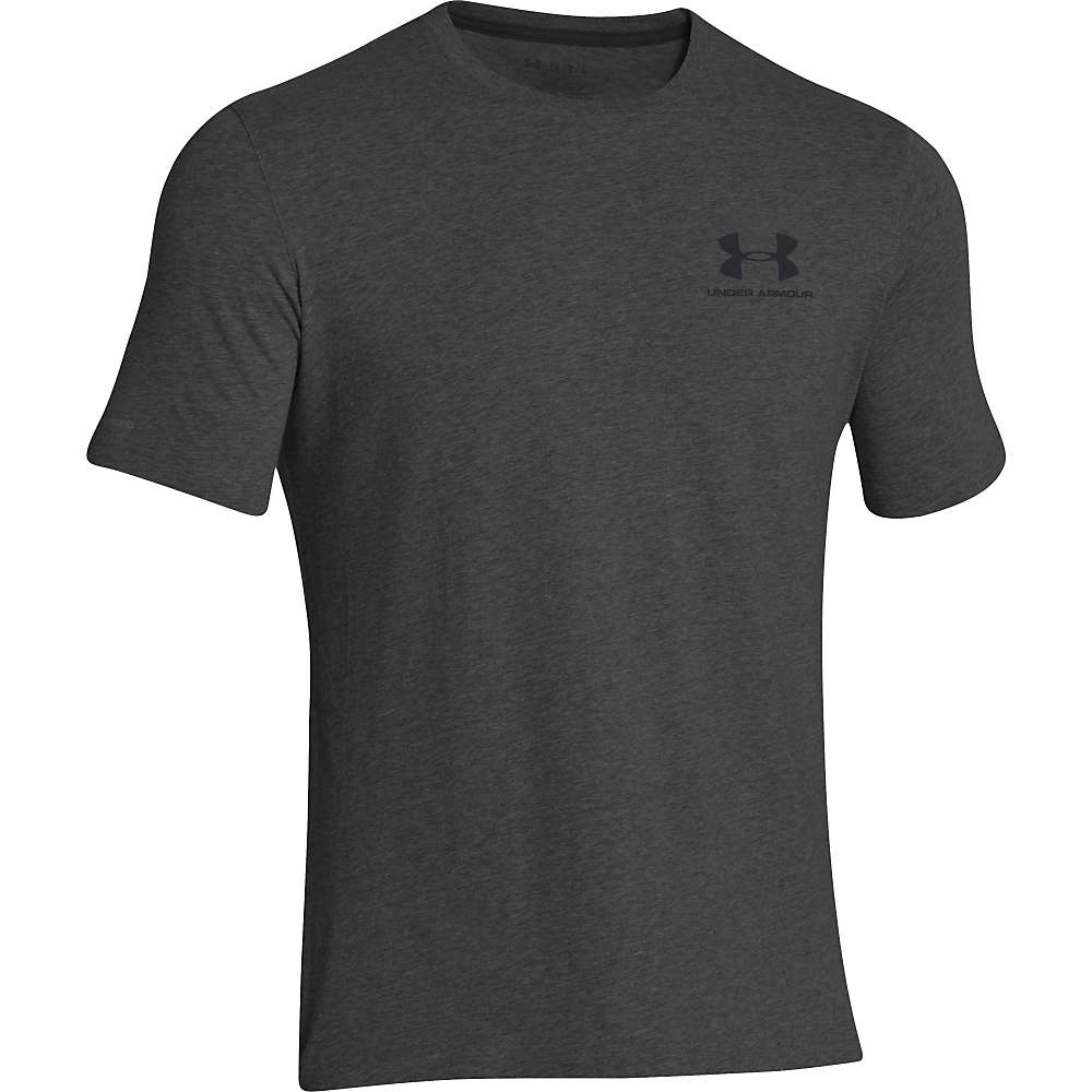 Under Armour Men's UA Charged Cotton Sportstyle Left Chest Lockup Tee - Small - Carbon Heather / Black