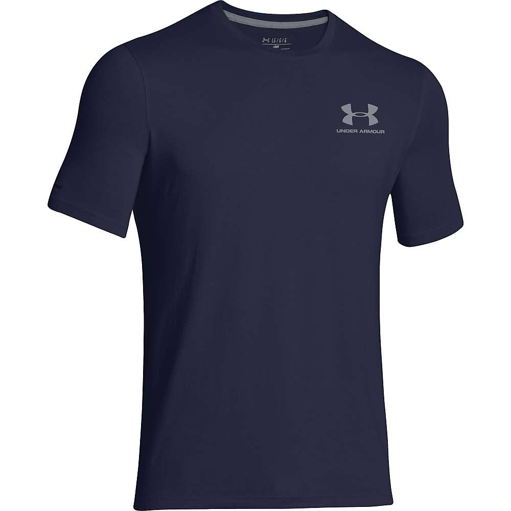 Under Armour Men's UA Charged Cotton Sportstyle Left Chest Lockup Tee - XXL - Midnight Navy / Steel