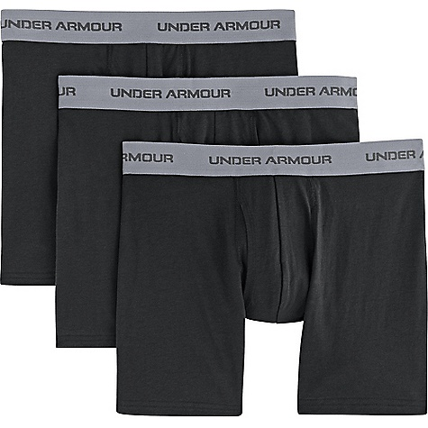 Under Armour Men's Charged Cotton Stretch 6 Inch Boxerjock 3 Pack 2554000