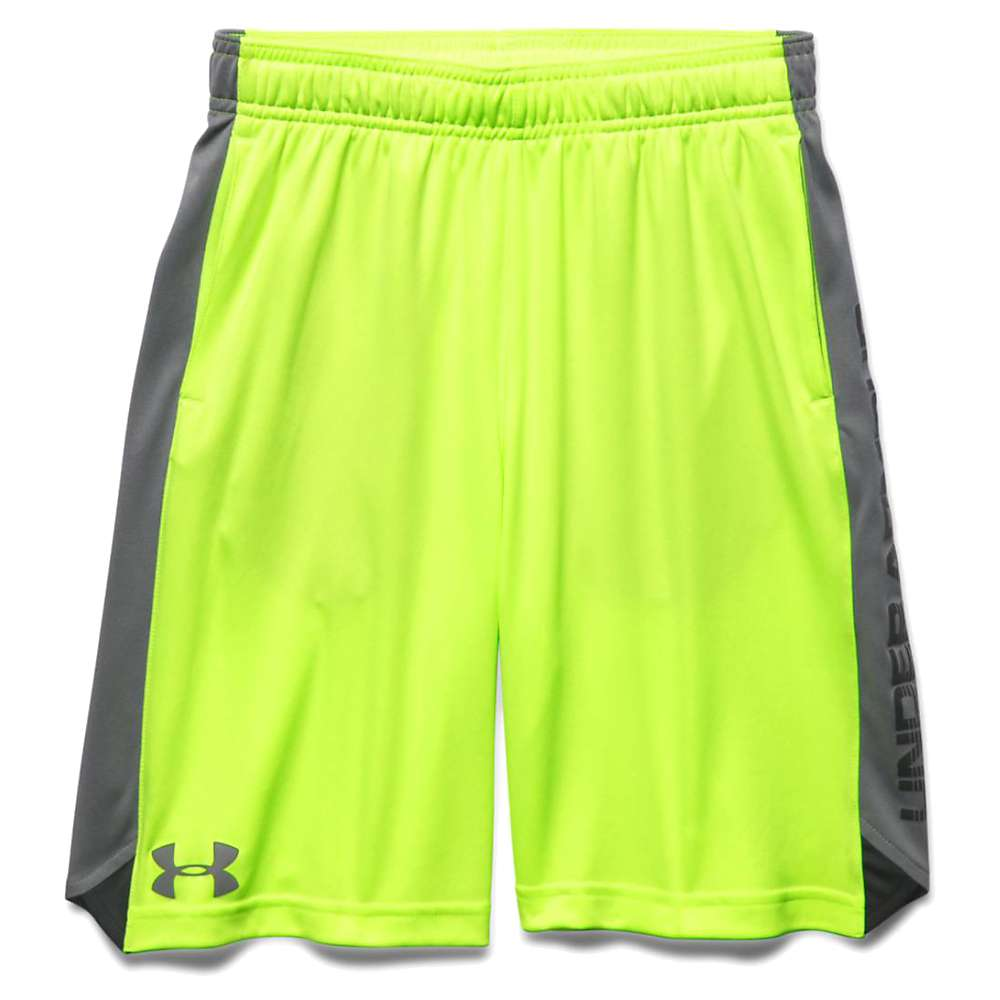 Under Armour Boys' Eliminator Short - Large - Fuel Green / Graphite / Graphite