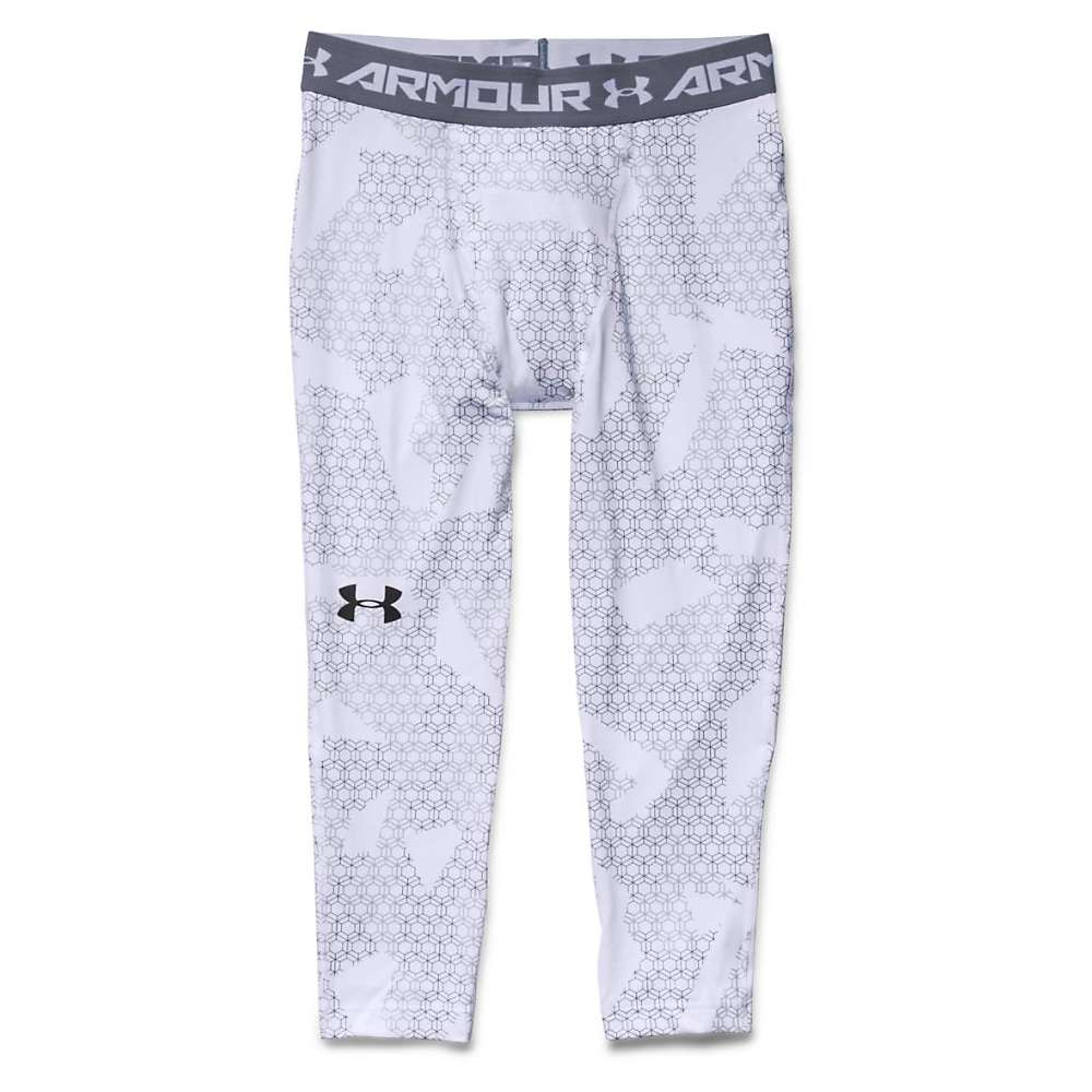 Under Armour Men's HeatGear Armour 3/4 Printed Legging - XXL - White / Steel / Black