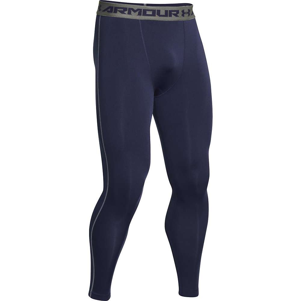 Under Armour Men's HeatGear Armour Compression Legging - XXL - Midnight Navy / Steel