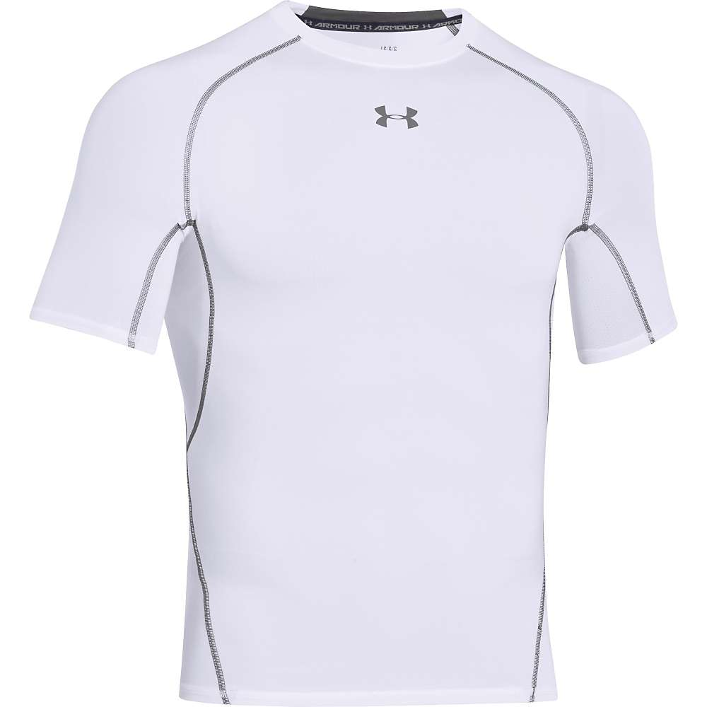 Under Armour Men's UA HeatGear Armour SS Tee - XL - White / Graphite