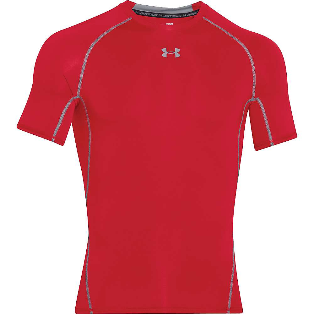 Under Armour Men's UA HeatGear Armour SS Tee - XL - Red / Steel