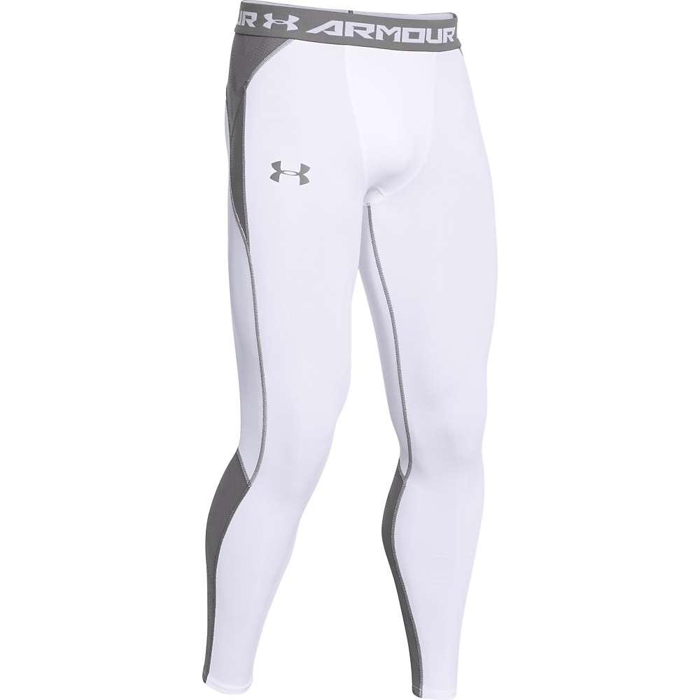 Under Armour Men's HeatGear ArmourVent Compression Legging - XXL - White / Graphite / Graphite