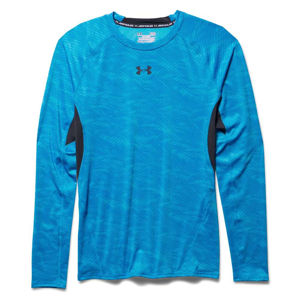 Under Armour Men's HeatGear Armour Compression Printed LS Tee - 3XL - Electric Blue / Black / Black
