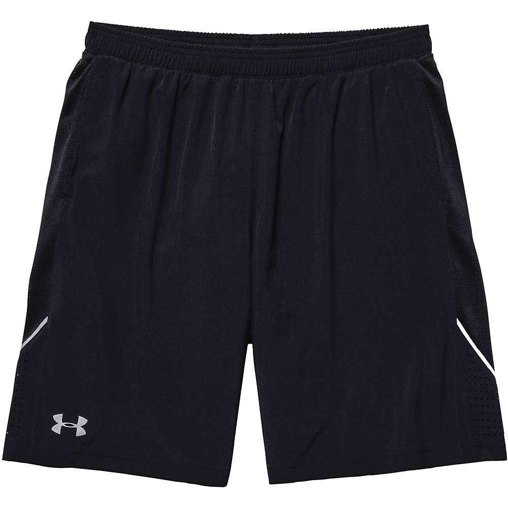 Under Armour Men's Launch 9 Inch Stretch Woven Short - Small - Black / Black / Reflective