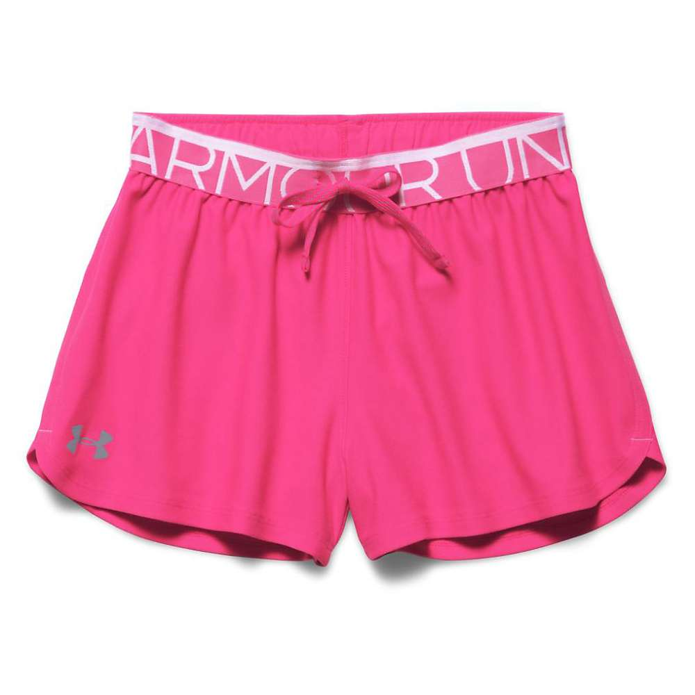 Under Armour Girls' Play Up Short - Large - Rebel Pink / Steel