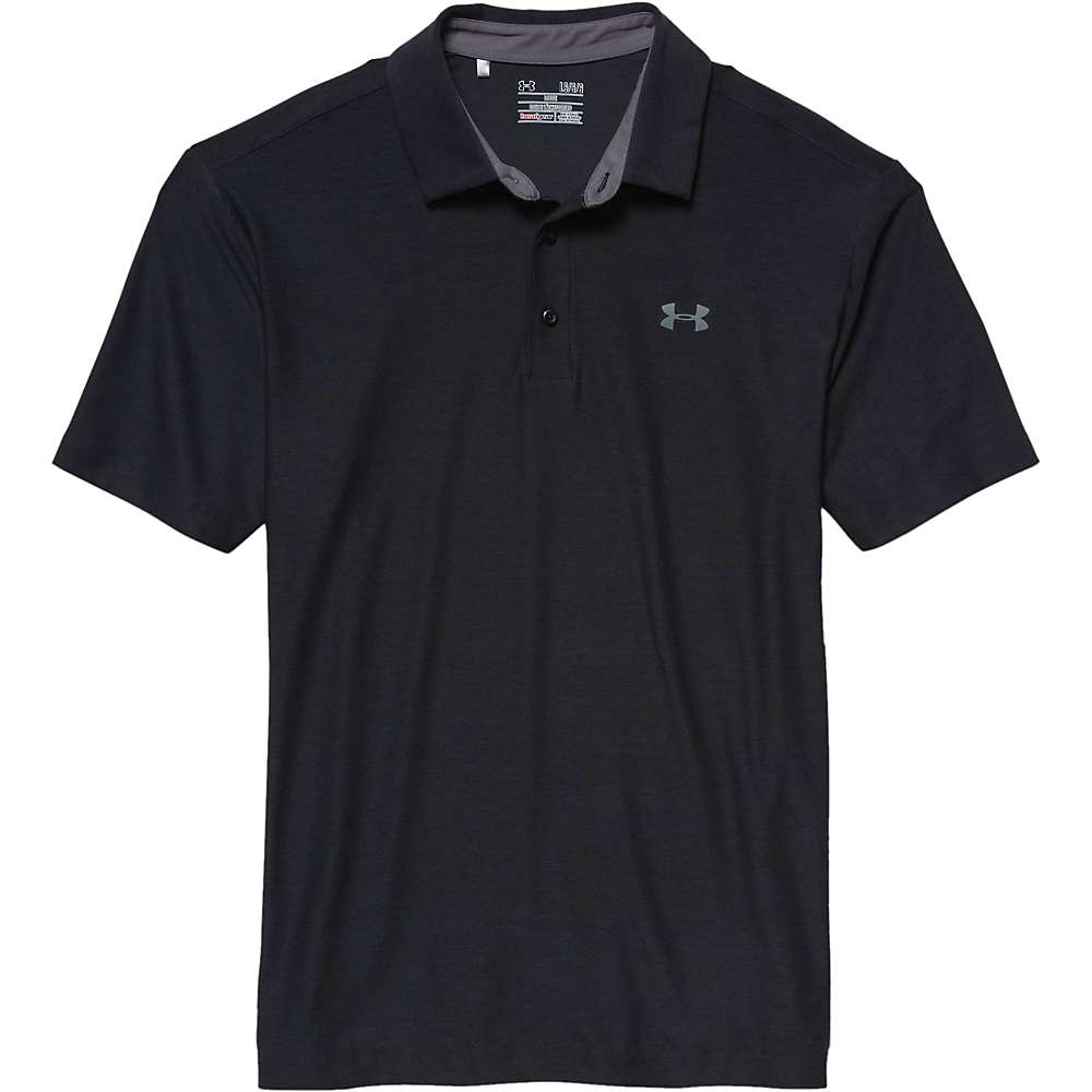 Under Armour Men's UA Playoff Polo - XXL - Black / Graphite / Graphite
