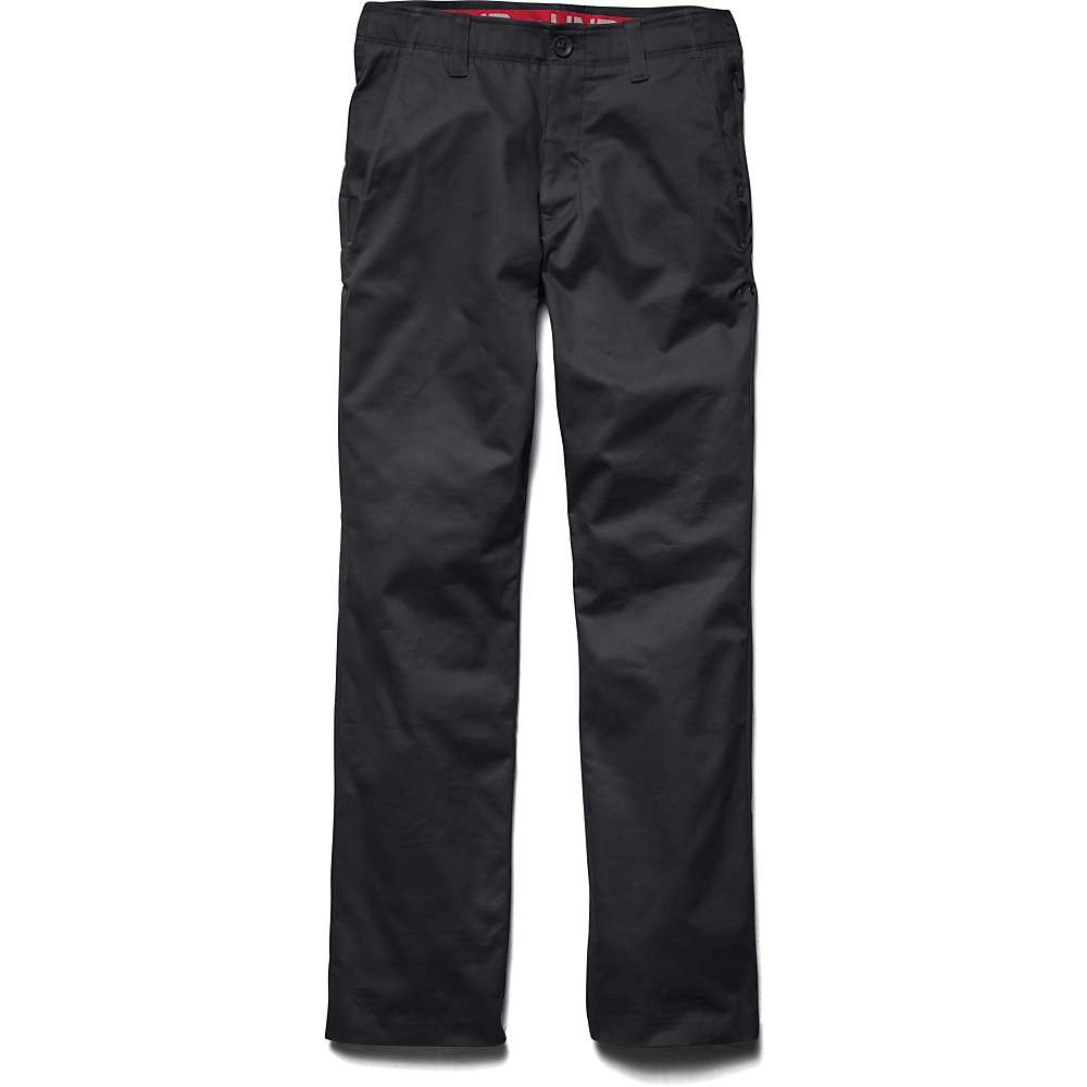 Under Armour Men's Performance Chino Tapered Leg Pant - 44x36 - Black / Black