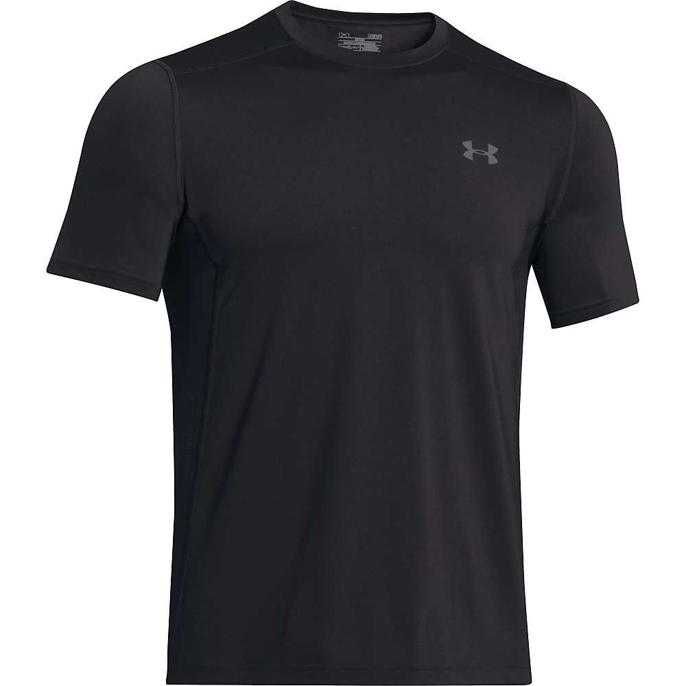 Under Armour Men's UA Raid SS Tee - Small - Black / Black / Graphite