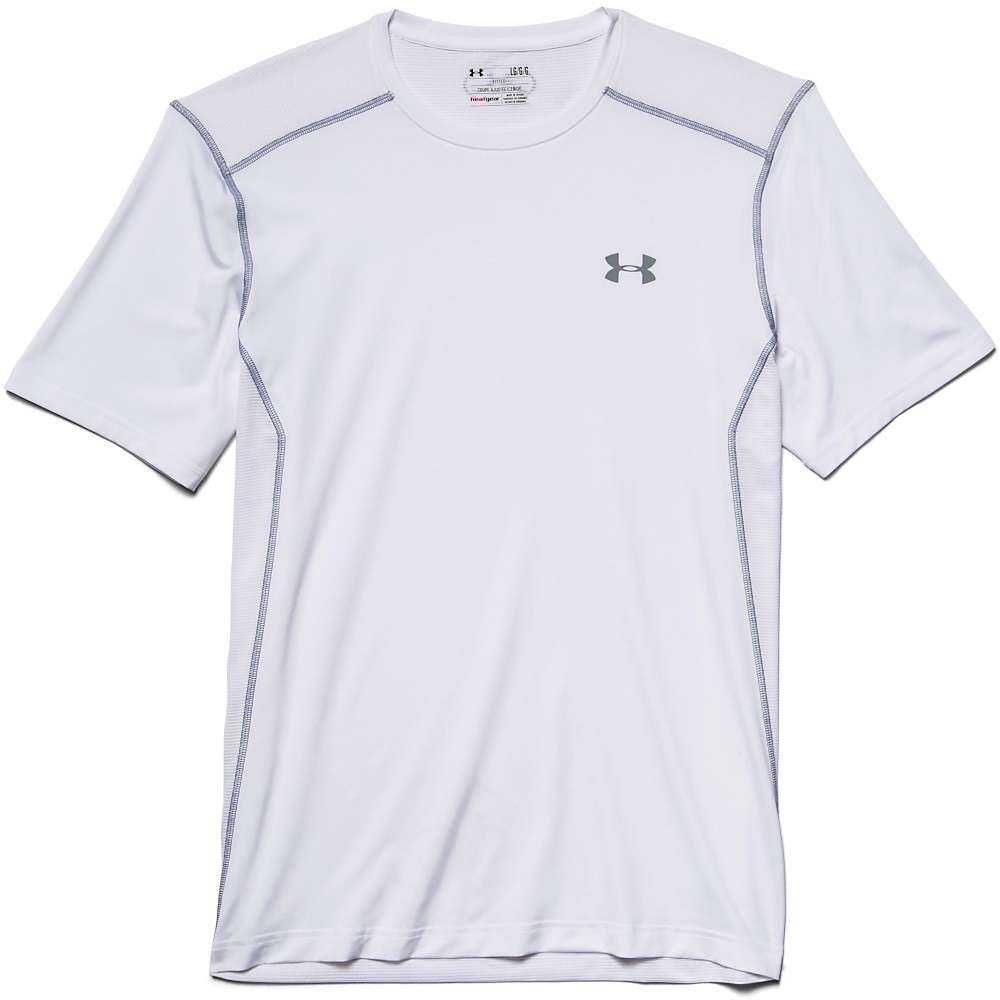 Under Armour Men's UA Raid SS Tee - Medium - White / White / Steel