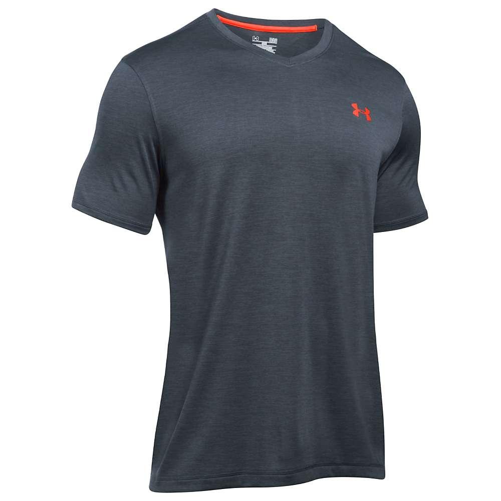 Under Armour Men's UA Tech V-Neck Tee - Medium - Stealth Grey / Black