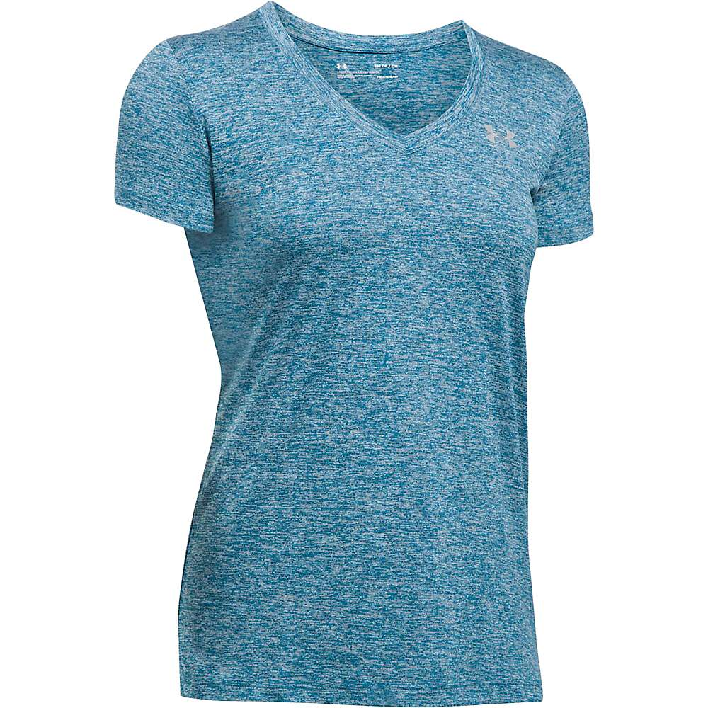 Under Armour Women's UA Tech Twist V-Neck Tee - Medium - Bayou Blue