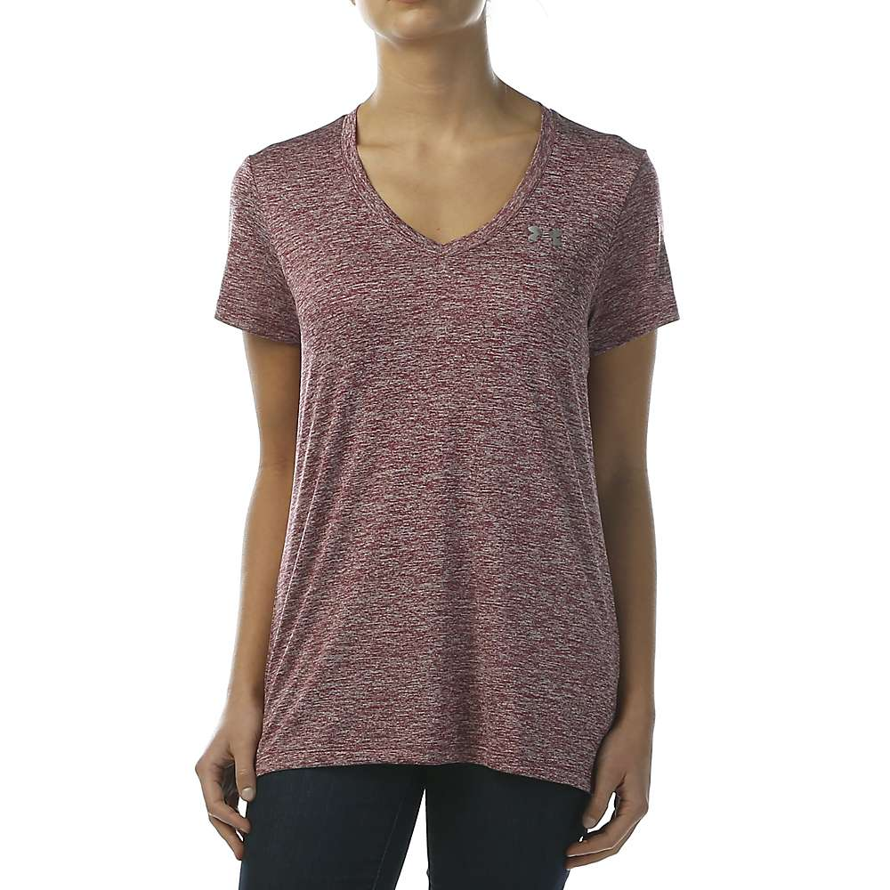 Under Armour Women's UA Tech Twist V-Neck Tee - Medium - Black Currant
