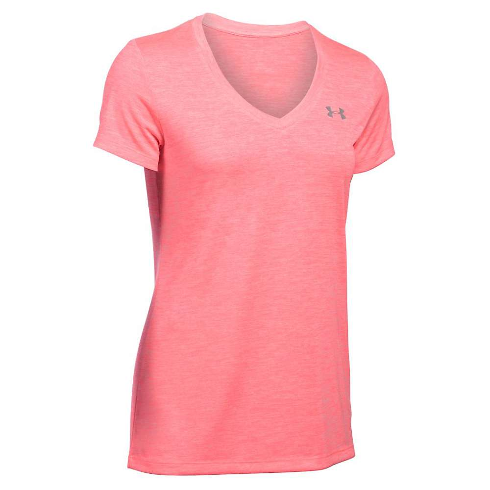 Under Armour Women's UA Tech Twist V-Neck Tee - Small - Brilliance / Metallic Silver