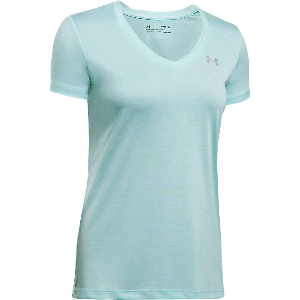 Under Armour Women's UA Tech Twist V-Neck Tee - Medium - Blue Infinity / Metallic Silver