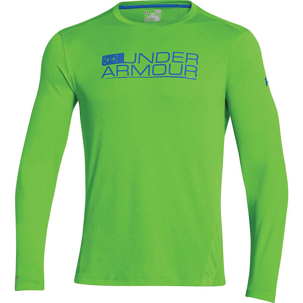 Under Armour Men's UA Iso-Chill Element Vented LS Top - XL - Gecko Green / Moon Shadow