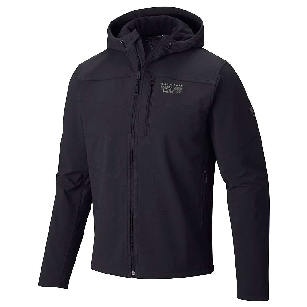 Mountain Hardwear Men's Ruffner Hybrid Hooded Jacket - Small - Black