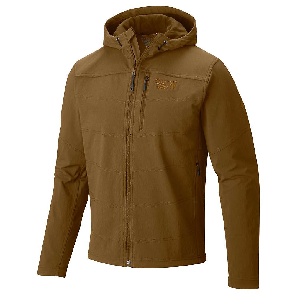Mountain Hardwear Men's Ruffner Hybrid Hooded Jacket - Small - Golden Brown
