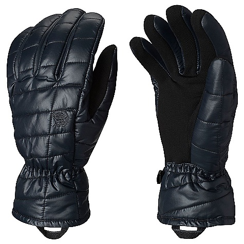 Mountain Hardwear Men's Thermostatic Glove Black Mountain Hardwear Men's Thermostatic Glove - Black - in stock now. FEATURES of the Mountain Hardwear Men's Thermostatic Glove Conductive stretch fleece palm functions with touchscreen devices Thermal-Q insulation for lightweight warmth Brushed tricot fleece lining, quilted ripstop nylon