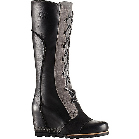 Sorel Women's Cate The Great Wedge Boot Black Sorel Women's Cate The Great Wedge Boot - Black - in stock now. FEATURES of the Sorel Women's Cate The Great Wedge Boot Upper: Waterproof full-grain leather and oiled suede Microfiber lining Footbed: Removable molded EVA footbed with heel cup and arch support, synthetic topcover Midsole: Molded BPU-PU wedge Outsole: Molded rubber outsole