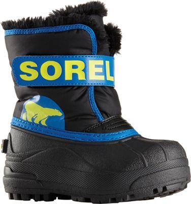 Sorel Toddler Snow Commander Boot - Black / Super Blue