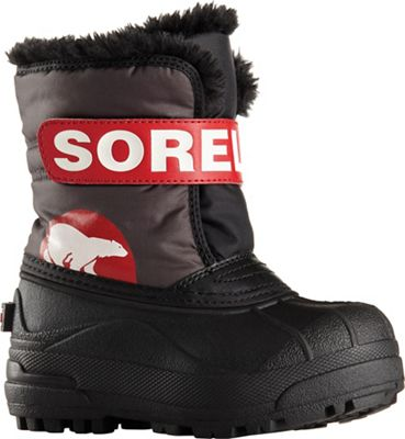 Sorel Toddler Snow Commander Boot - Dark Grey / Bright Red