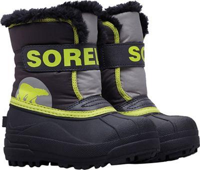 Sorel Toddler Snow Commander Boot - Dark Grey / Warning Yellow