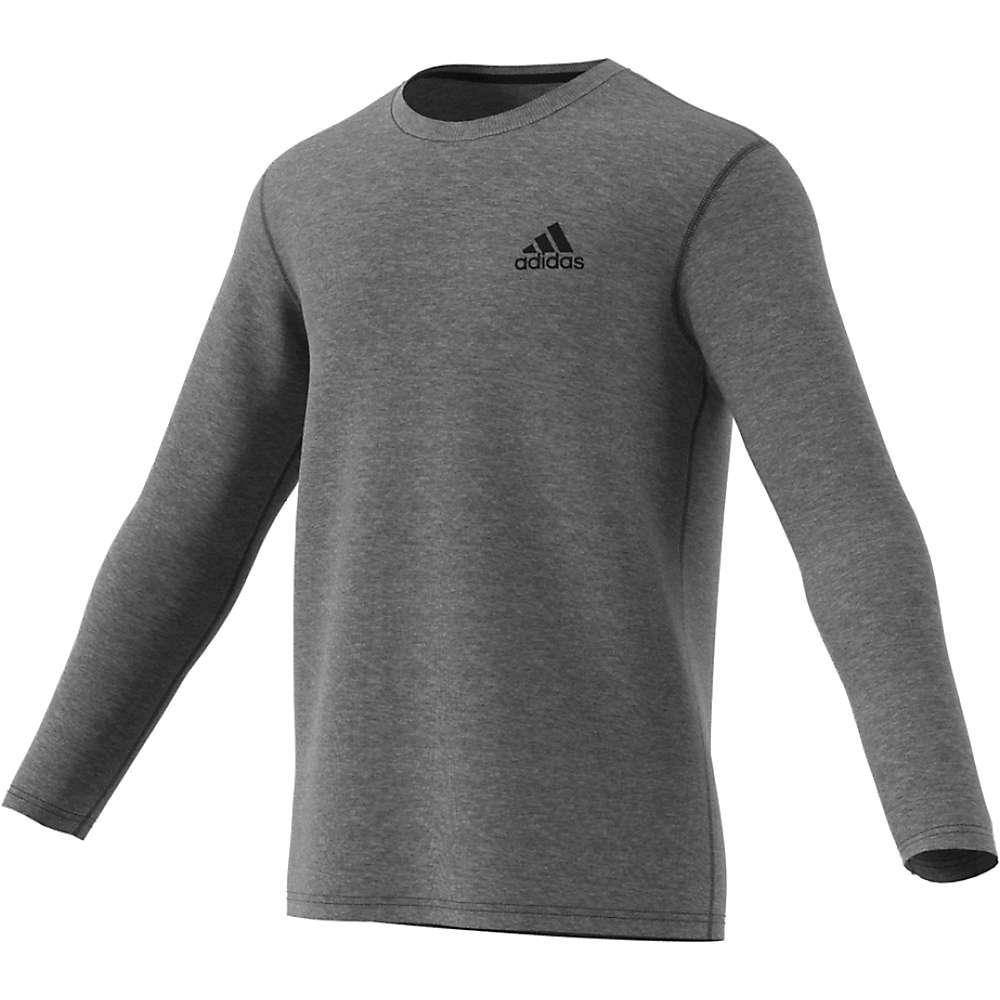 Adidas Men's Ultimate LS Tee - Small - Dark Grey Heather