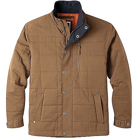 Mountain Khakis Men's Swagger Jacket Tobacco Mountain Khakis Men's Swagger Jacket - Tobacco - in stock now. FEATURES of the Mountain Khakis Men's Swagger Jacket 4 Pockets Trapunto stitching at hand pockets and yoke Adjustable cuffs Center front zipper covered by snap jacket