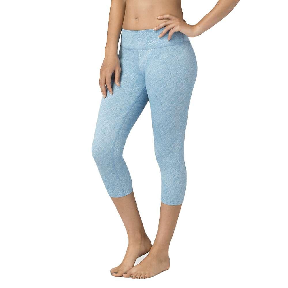 Beyond Yoga Women's Capri Legging - Large - Aquatic Blue / White Texture